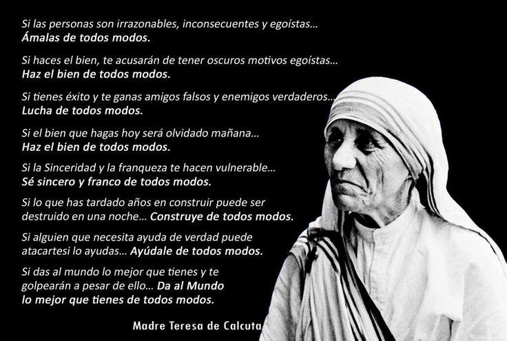 Teresa De Calcuta Frases Biografía Obras Poemas Y Mucho Más