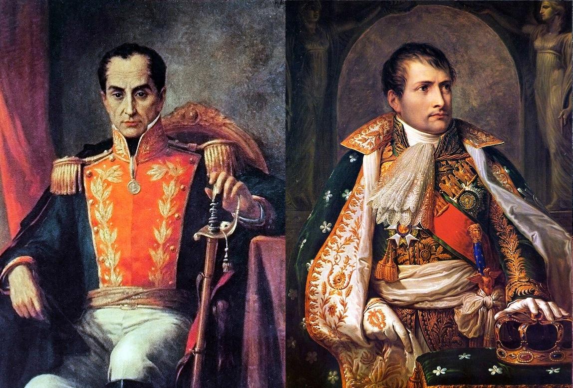 Resultado de imagen para bolivar y napoleon