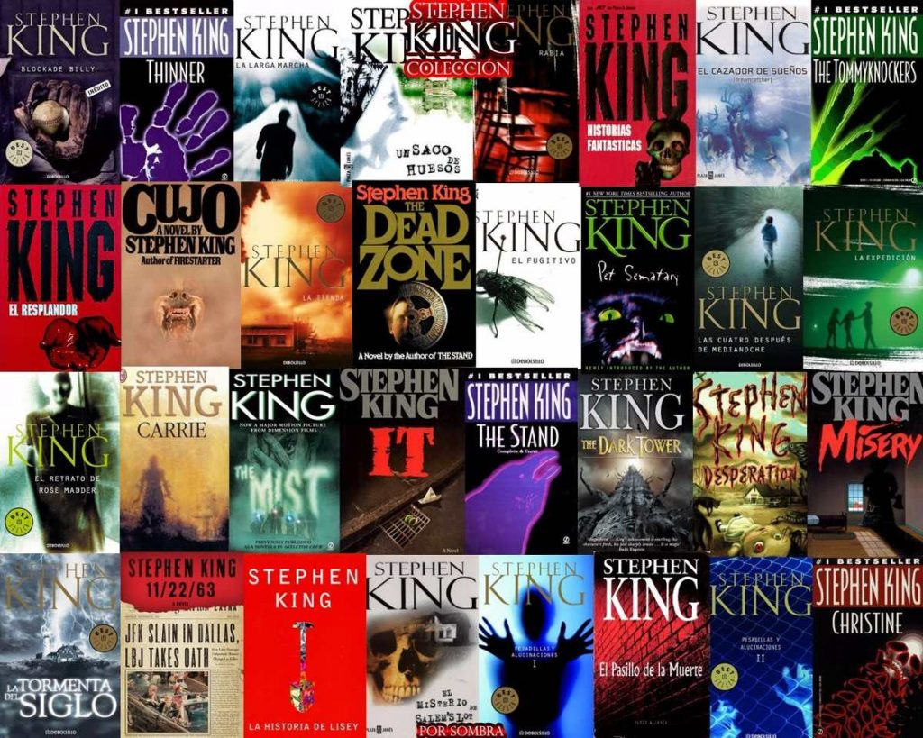 coleccion de libros de Stephen King
