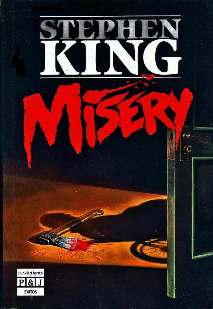 portada del libro misery de Stephen King