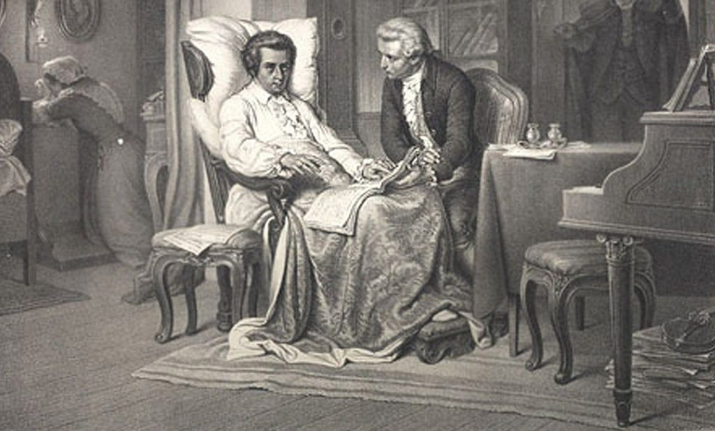 Beethoven Playing At Wolfgang Amadeus Mozart 1787 – Dibujos Para