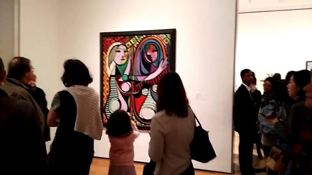 Girl Before a Mirror en el museo