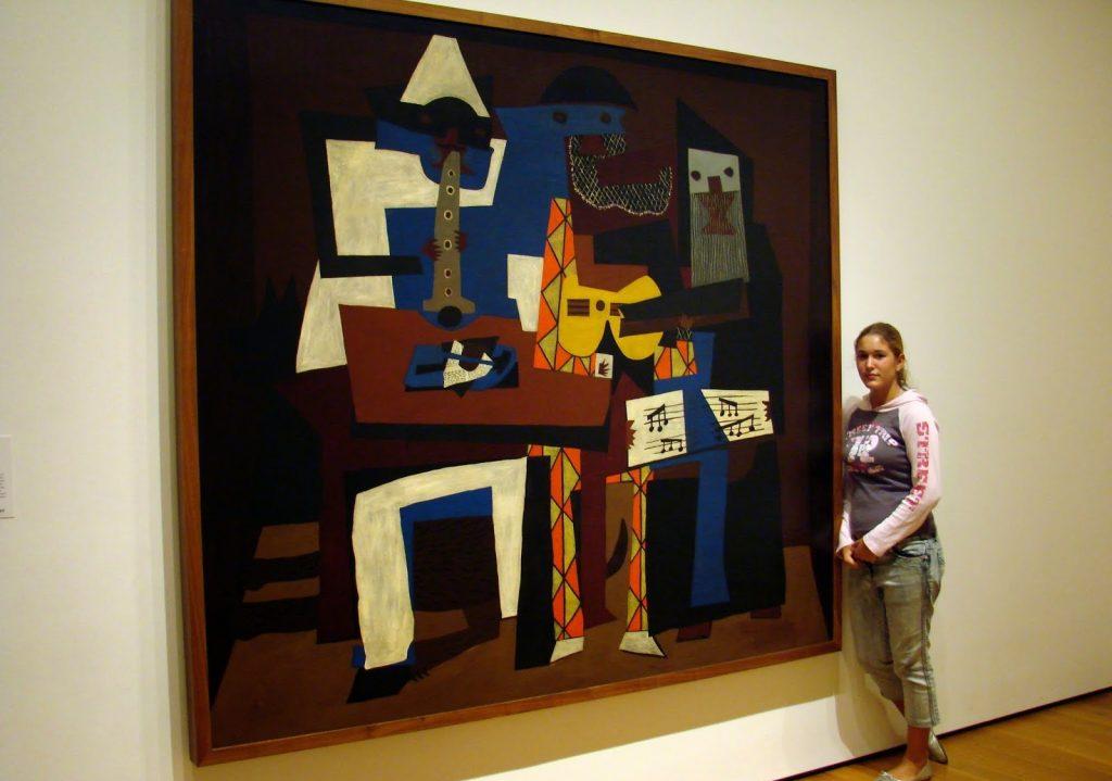 Three Musicians en el museo