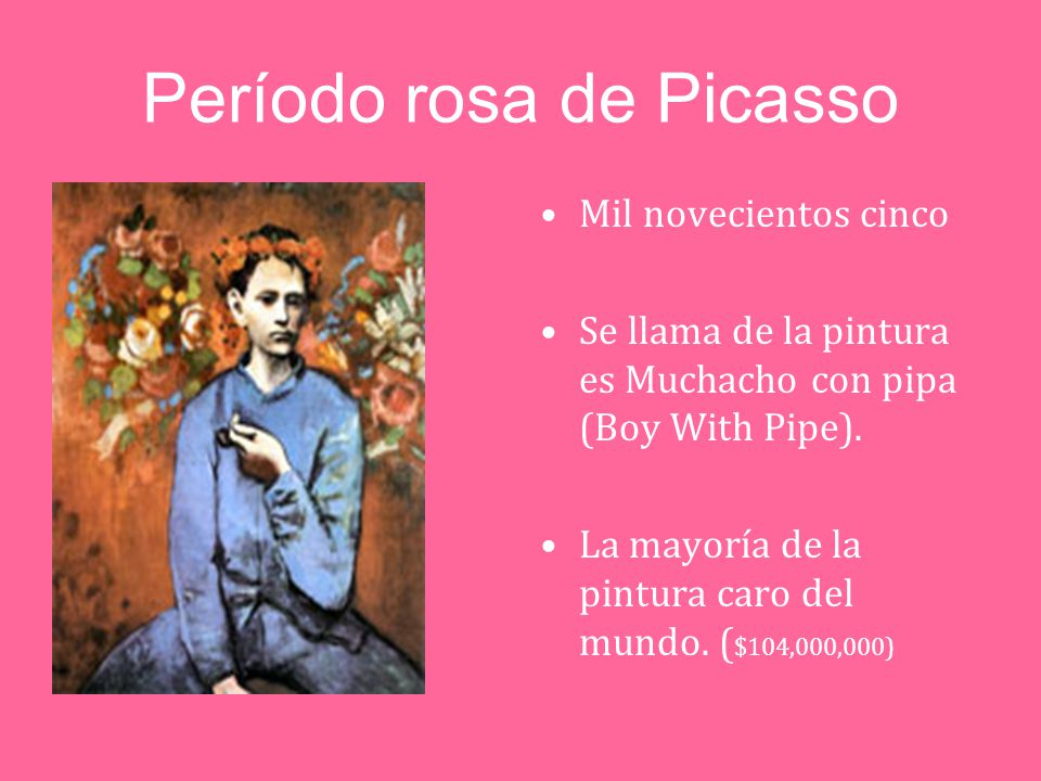 periodo rosa de pablo picasso