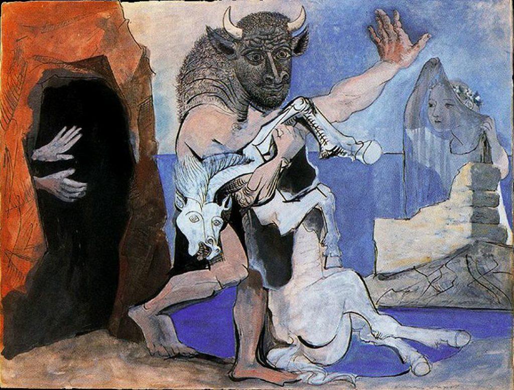 """interpretacion de """"el minotauro"""" del pintor pablo picasso"""