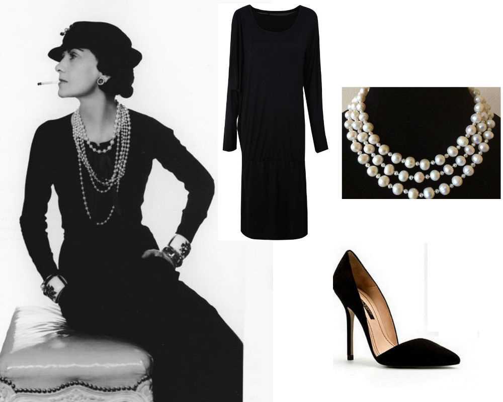 Pequeno vestido negro de chanel