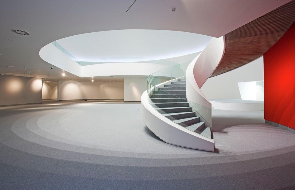 vista interior del centro cultural oscar niemeyer